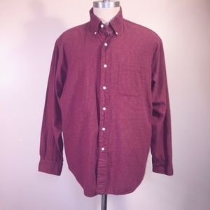 Brooks Brothers Shirt L Woven In Italy Cotton